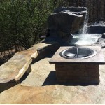 custom outdoor fire pit seating