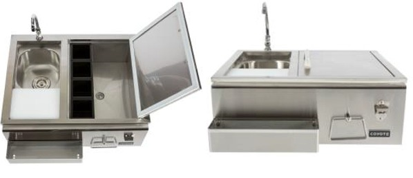 stainless steel outdoor sinks